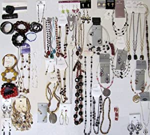 76 Below Wholesale Jewelry Lot Costume Fashion Mixed NEW YORK & COMPANY SONOMA XHILARATION includes 37 Necklaces 24 Pairs of Earrings 13 Bracelets 1 Anklet Toe Ring Set 1 Pin INVENTORY LIQUIDATION CLEARANCE SALE