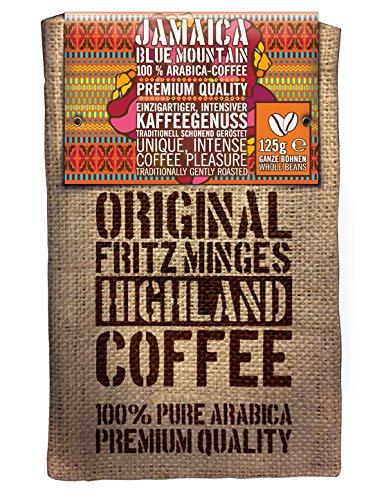 Fritz Minges Jamaica Blue Mountain, Caffè Arabica, Chicchi Interi, Confezione Soft-Aroma (Sacco di Iuta), 125 g