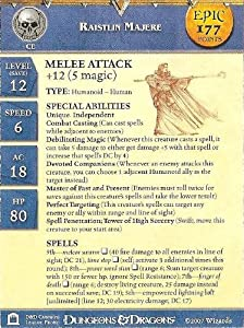 Dungeons and Dragons Miniatures: Raistlin Majere Epic Stat Card - Epic Card P...