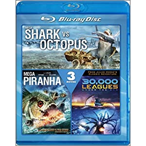 Mega Shark vs. Giant Octopus / Mega Piranha / 30,000 Leagues Under the Sea movie