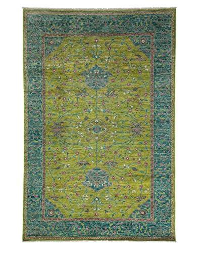 "Darya Rugs Oushak Oriental Rug, Lime, 6' 2"" x 8' 9"""