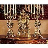 Design Toscano KY95026 Chateau Chambord Clock and Candelabra Ensemble Set
