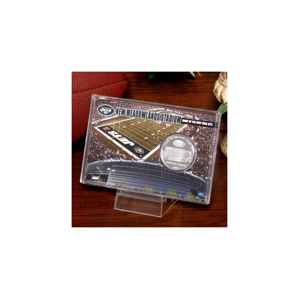 NFL New York Jets New Meadowlands Stadium Silver Coin Card