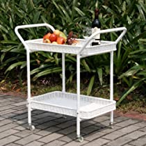 Hot Sale Jeco Outdoor Wicker Patio Furniture Serving Cart