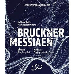 Bruckner: Symphony No.8; Messiaen: Couleurs de la Cité Céleste [Blu-ray]