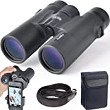 Gosky 10x42 Roof Prism Binoculars for Adults, HD Professional Binoculars for Bird Watching Travel Stargazing Hunting Concerts Sports-BAK4 Prism FMC Lens-with Phone Mount Strap Carrying Bag (Color: HD 10x42 binoculars)