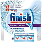 Finish Dishwasher Detergent Quantum Max Power and Free with Hydrogen Peroxide Action, 45 Tablets