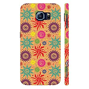 Samsung Galaxy S6 Artsy Sun N Moon designer mobile hard shell case by Enthopia