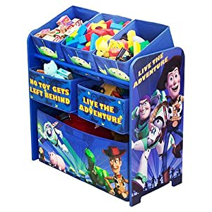 Disney Pixar Toy Story Multi Bin Toy Box Organizer