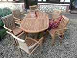 "Teak Garden Furniture 13 Piece ""Syracruse"" Set New 2015 Model By Humber Imports"
