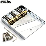 NEW Wilkinson Chrome WTB Ashtray Bridge for Tele guitars, with Brass Saddles (Color: Chrome)