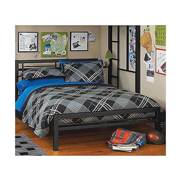 new concept 8d5fb a88ea Black Full Size Metal Bed Platform Frame, Great Addition to any Kids or  Boys Bedroom Set. Nice Bedroom Furniture. ON SALE NOW!!!! This Bedroom Beds  ...