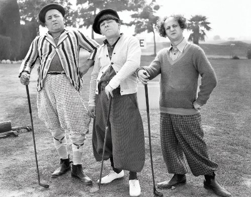 The Three Stooges Golf Pose TV Television Comedy Show Postcard Poster Print 11x14