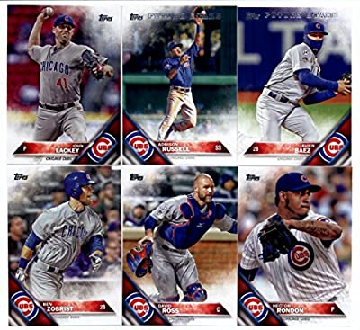 2016 Topps Series 2 Baseball Chicago Cubs Team Set of 11 Cards in 4-Pocket Collector's Album: Jason Heyward(#371), David Ross(#441), Ben Zobrist(#447), Young Cubs Buds(#453), John Lackey(#470), Chicago Cubs(#474), Hector Rondon(#481), Travis Wood(#507), A