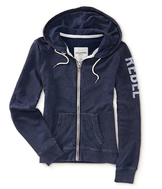 Aeropostale Womens Rebel Fz Hoodie Sweatshirt