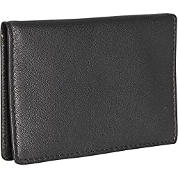Royce Leather Men\'s Mini ID Case, Black