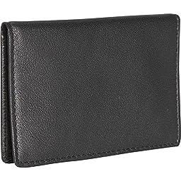 Royce Leather Men\'s Mini ID Case, Black
