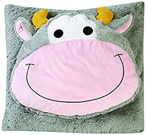 Oversized Animal Floor Pillows : FeatherSoft 28-Inch Kids Animal Floor Cushion, Oversized, Cow: Amazon.in: Home & Kitchen
