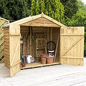 7ft x 3ft overlap apex wooden bike storage shed brand. Black Bedroom Furniture Sets. Home Design Ideas
