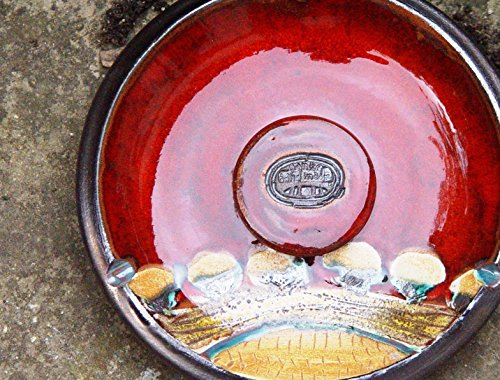 Ceramic Ash Tray. Potterty Smoking Tray, Decorative Pottery