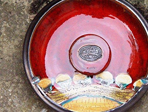 Ceramic Ash Tray. Potterty Smoking Tray, Decorative Pottery