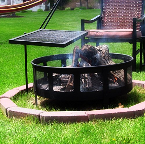 Sunnydaze-Heavy-Duty-Adjustable-Campfire-Cooking-Swivel-Grill-24-Inch-Long
