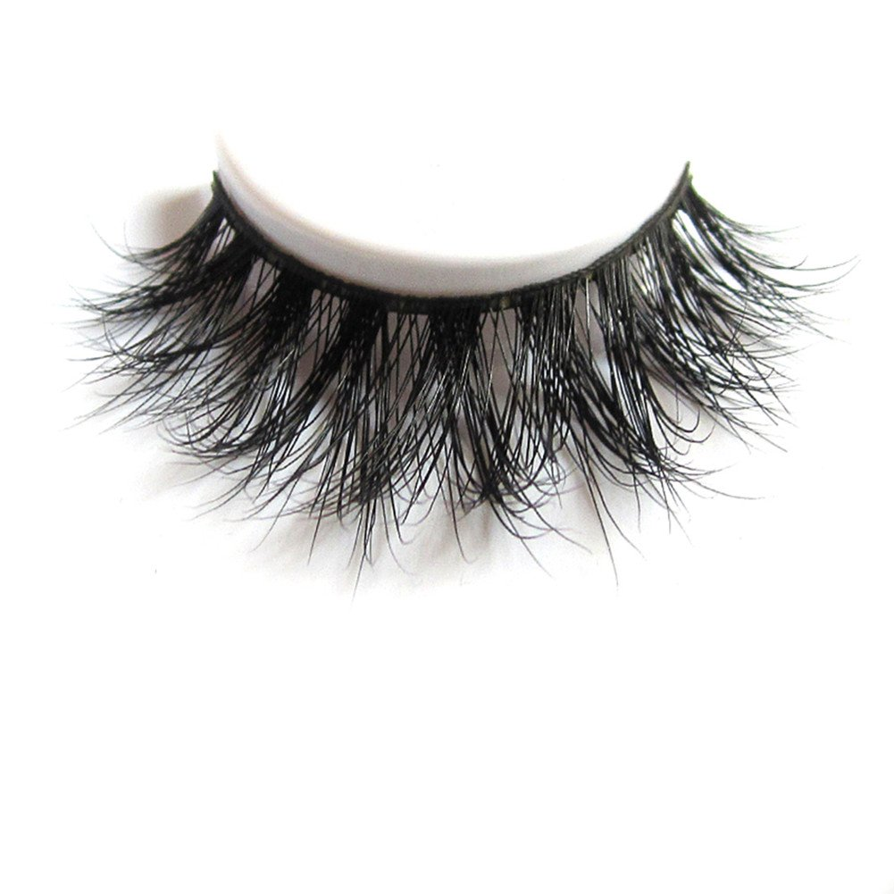3D Mink Fur Fake Eyelashes 100% Siberian Mink Fur Hand-made False Lashes 1 Pair Package
