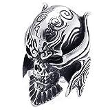 Size 9, KONOV Large Biker Men's Gothic Casted Skull Stainless Steel Ring