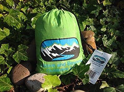Portable Lightweight Outdoors Nylon Fabric Travel Parachute Camping Hammock (Blue, Green)
