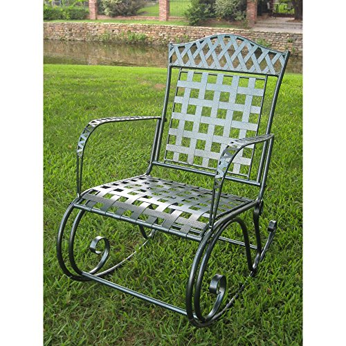 International Caravan Milano Iron Patio Rocking Chair picture
