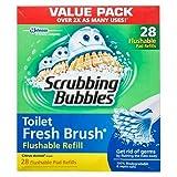 Scrubbing Bubbles Toilet Fresh Brush Flushable Refills, Citrus Scent, 28 Count