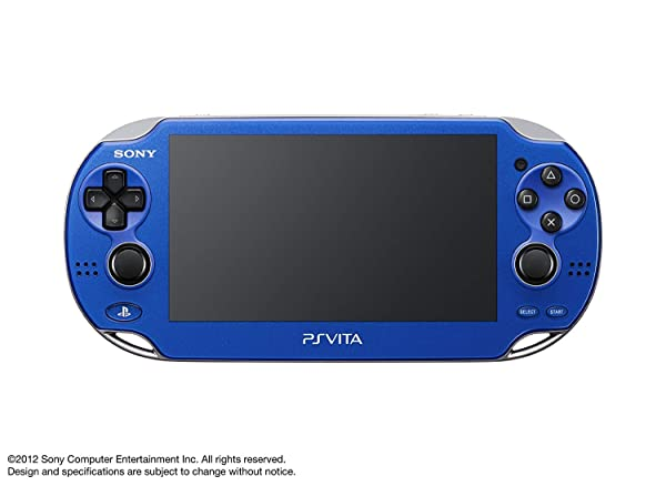 Sony Playstation Vita WiFi 1000 Series OLED Console with 2 Silicon Thumbstick Covers (Renewed) (Vibrant Blue) (Color: Vibrant Blue)