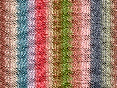 Noro Silk Garden Lite, 2131 - Salmon-Blues-Greens-Rose-Nut