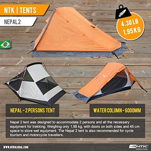 AZTEQ-NEPAL-up-2-Person-89-by-84-Foot-Sport-Camping-Tent-100-Waterproof-6000mm