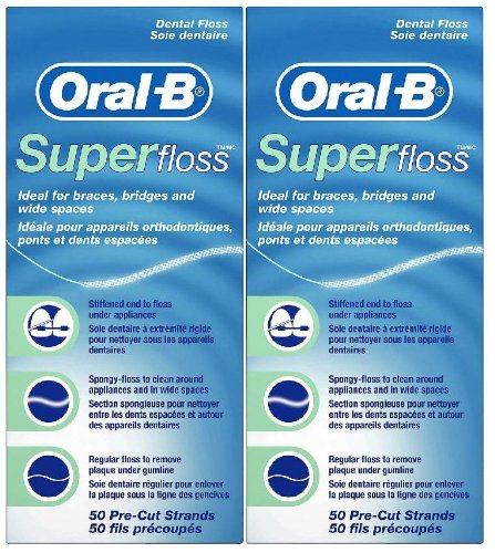 Oral-B Super Floss, Dental Floss, Original (50-count), 2-pack (Super Floss Dental Floss compare prices)