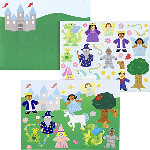 12 Sets ~ Design Your Own Fairy Tale Scene Stickers & Backgrounds