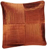 Shahenaz Home Shop Kyrah Four Pintex Poly Dupion Cushion Cover - Orange