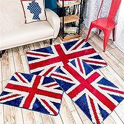 Sytian® Nice Union Jack Rug Super Soft Absorbent Doormat Floormat Shaggy Area Rug Non Slip Bath Mat Bathroom Shower Rugs Carpet (British Style) (50*80cm)