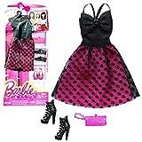 Barbie - Tendencia de la Moda para la Ropa de la Mu�eca Barbie - Vestido de Noche Burdeos Negro