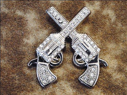 Set Of 8 Crystal Rhinestone Bling Conchos Cross Pistol Saddle Headstall Cowgirl