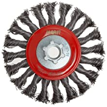 Norton Standard Wire Wheel Brush, Threaded Hole, Carbon Steel, Full Twist Knotted
