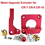 Upgrade 3D Printer Parts MK8 Extruder Aluminum Alloy Block Bowden Extruder 1.75mm Filament for Creality 3D Ender 3,CR-7,CR-8, CR-10, CR-10S, CR-10 S4, and CR-10 S5 (Color: Red)