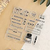 GIMITSUI Store Clear Silicone Stamp (Book and Ink) (Color: Clear, Tamaño: Book and Ink)