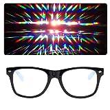 EmazingLights Diffraction Prism Rave Glasses (Black) (Color: Black, Tamaño: One Size)