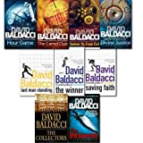 David Baldacci collection 9 Books set. (Divine Justice, the collectors, hour game, deliver us from evil, the camel club, saving faith, the winner and last man standing [hardcover] the Innocent)