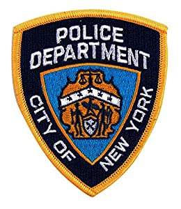 Ecusson Patch Brode Police Department City Of New York 3237 Airsoft Deco Sac Veste Trousse Blouson Casquette Casque