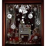 Alcoa Prime Christmas Bells Gift Wall Stickers Showcase Window Decor White Hangingi Gifts Stickers Xmas Supply...