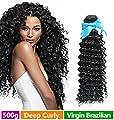 Rechoo Brazilian Virgin Hair 5 Bundle Deals 500g - Deep Curly