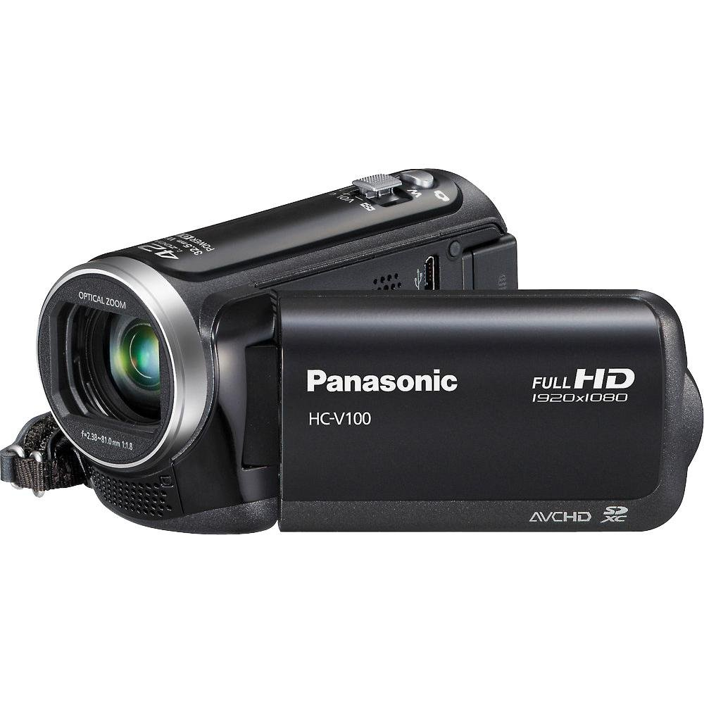 Panasonic V100M 42x Intelligent Zoom HD Camcorder with 16GB Built in Memory (Black)