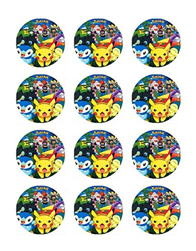 Pokemon #4 Cupcake Edible Toppers Set of 12